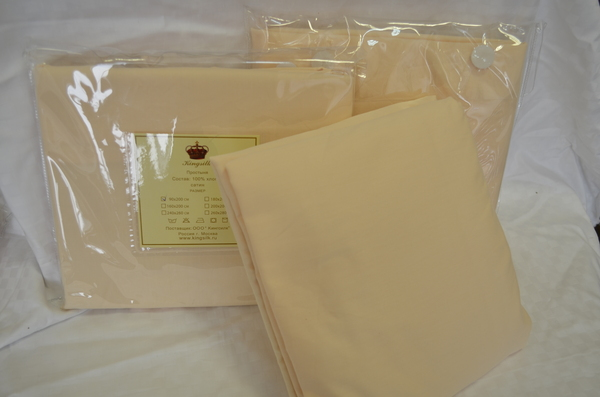 Простыня на резинке 160х200 Kingsilk Cream