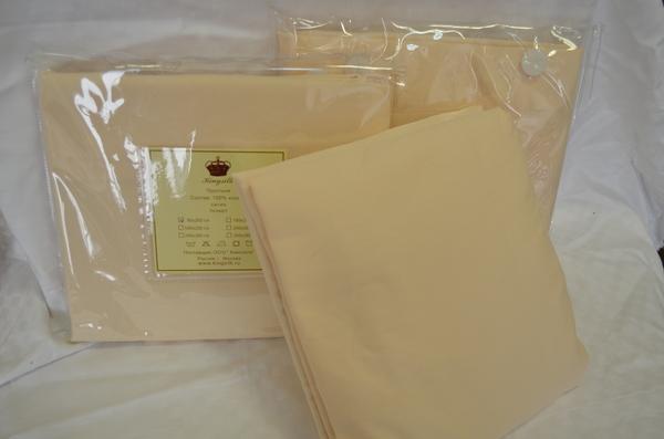 Простыня на резинке 180х200 Kingsilk Cream