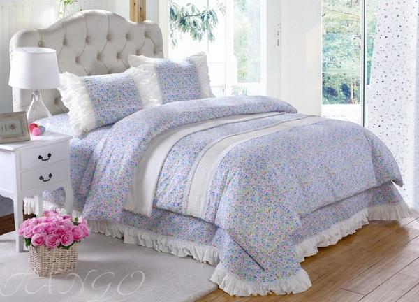 Постельное белье с покрывалом Provence голубой