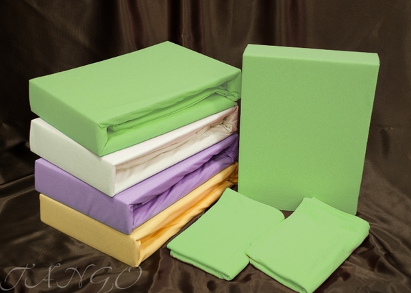 Простыня с наволочками Tango Jersey Green