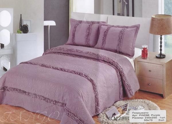 Покрывало с наволочками Patchwork Purple