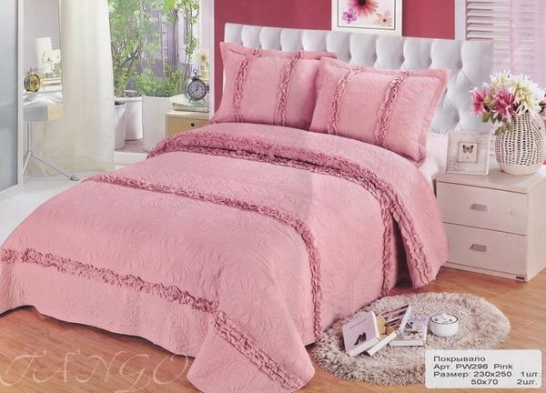 Покрывало с наволочками Patchwork Pink