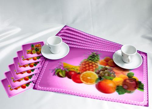 Набор салфеток с подстаканниками Tango Fruits V6
