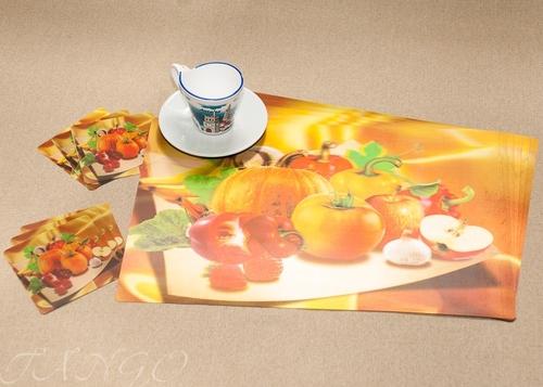 Набор салфеток с подстаканниками Tango Vegetables V4