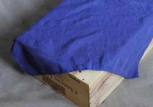 Льняное полотенце кухонное синее Soft 50х70 см