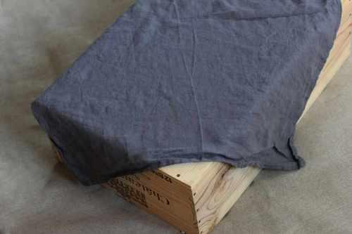 Льняное полотенце кухонное серое Soft 50х70 см