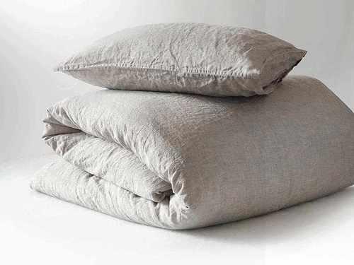Мягкая льняная наволочка Soft Linen 70х70 см