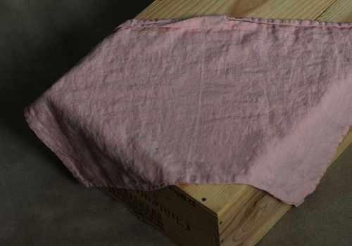 Льняное полотенце кухонное бледно-розовое Soft 50х70 см