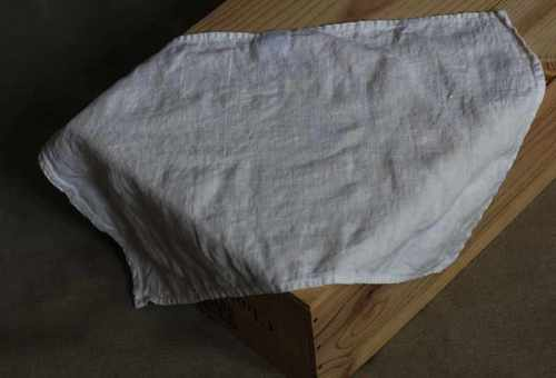 Льняное полотенце кухонное белое Soft 50х70 см