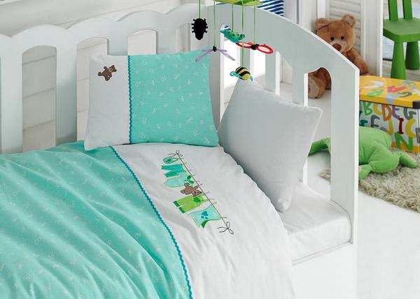 """Детское постельное белье """"Bebe"""" Green"""