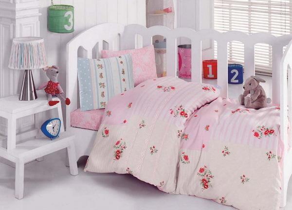 """Детское постельное белье """"Bebe"""" Pink"""