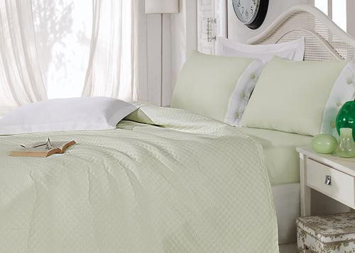 Постельное белье с покрывалом Oxford зеленый