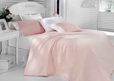Постельное белье с покрывалом Oxford розовый