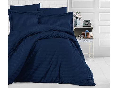 Постельное белье Clasy STRIPE SATIN Dark blue euro