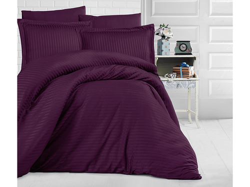 Постельное белье Clasy STRIPE SATIN Purple euro