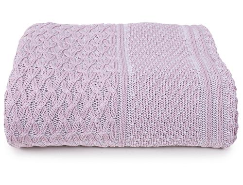 Вязаное покрывало Верона розовый