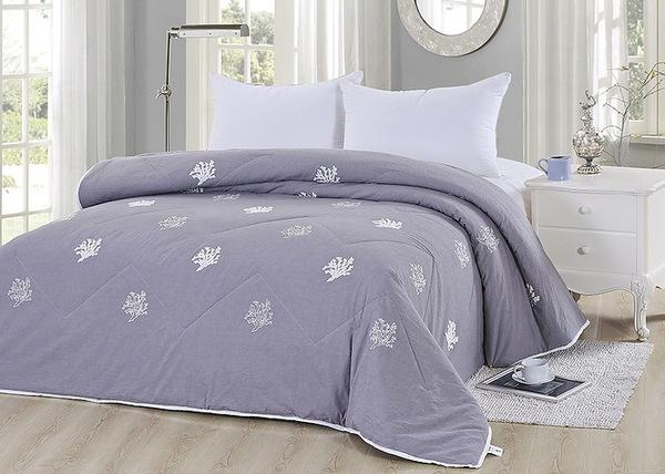 Покрывало с вышивкой Tango Cotton фиолетовый