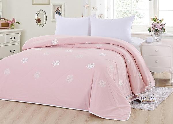 Покрывало с вышивкой Tango Cotton розовый